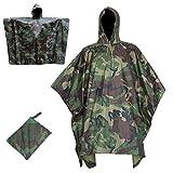 Cenphua Ponchos Pluie Imperméables, Capuche Multifonction Camouflage Militaire...