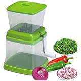 RapidLive Onion Chopper & Vegetable Chopper Quick Cutter With Rotating Blade For Fine Chopping Made From Virgin Plastic & Stainless Steel Blade