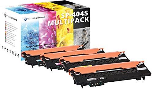 4 Schneider Printware Toner | 50 Prozent mehr Druckleistung | kompatibel zu CLT-K404S, CLT-C404S, CLT-Y404S, CLT-M404S für Samsung Xpress C480w, C480fw C430 C430w C480w C480fn