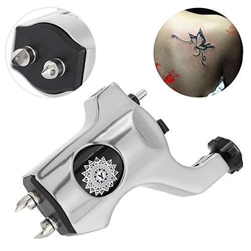 Tattoo Maschine Motor Tätowierung Drehmotor, Rotary Tattoo Ausrüstung High Silence Motor mit AluminiumlegierungsRahmen, Professionelle Liner Shader Maschinengewehr Motor (Grau) -