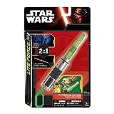 Tech4Kids 39327 - Portachiavi luminoso con spada laser verde di Yoda, estraibile