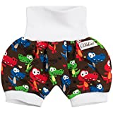 Lilakind Kurze Kinder-Hose Baby Shorts Buxe Sommerhose Krokodile Braun Bunt Gr. 62/68- Made in Germany