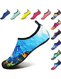 BIGU Chaussettes de Sport Aquatique de Nager de Surf de Yoga de Plage Pieds Nus à séchage Rapide Aqua Chaussettes Slip-on Chaussures d'eau Enfants Hommes Femmes
