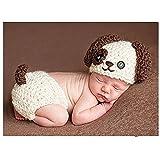 Fashion recién nacido niño niña bebé disfraz fotografía accesorios cachorro sombrero de pantalones