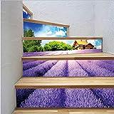 Fandhyy Schritte Aufkleber Europäischen Stil Wandaufkleber Für Schlafzimmer Wohnzimmer Dekor Poster PVC Wasserdicht Aufkleber