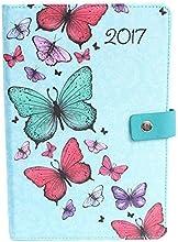 Tallon 2017A5mariposas organizador diario día una página), color azul