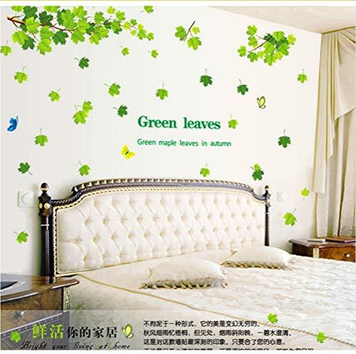 tter Herbst 3D Wandaufkleber Ausgangsdekor Baum Aufkleber Abnehmbare Hintergrund Grün 60 * 90 cm ()