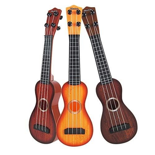 Urmagic Kinder Ukulele Mini Gitarre Spielzeug - 4 Saiten Musical Kunststoff Instrument Spielzeug Ukulele Kleine Gitarre Musikinstrumente Lernspielzeug für Anfänger Kinder Kind 38 cm (Farbe in Random)