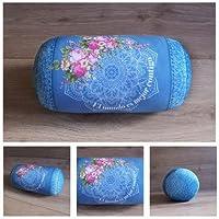 Preisvergleich für ARTE MODEL Blaues Mandalazylinderkissen