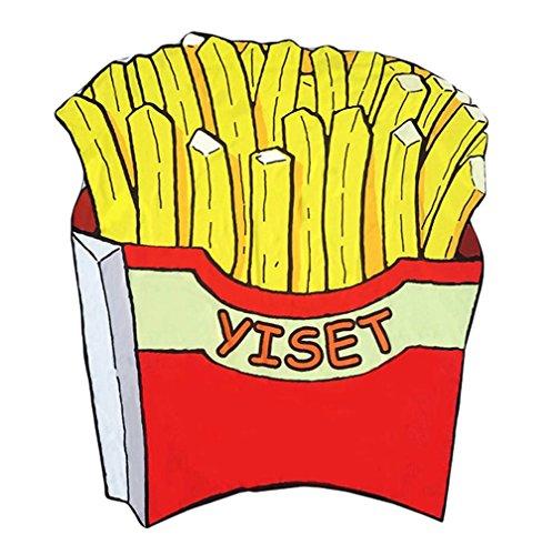 Smile YKK Emotion Druck Tischdecke-Picknickdecke-Wandteppich-Strandtücher-Runde Mandala Pommes frites