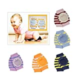 KiddosCare Crawling Elbow Cushion Infants Toddlers Baby Knee Pads Protector (Assorted Color)