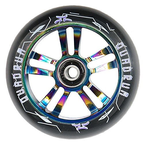 AO Scooters Quadrum Wheel 100mm incl. Titen Abec 7 Oilslick + Fantic26 Sticker