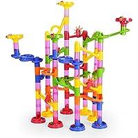 NextX Circuito Canicas, Juguetes para Niños 105 Piezas Juego Pista de Canicas Marble Run Juguetes de Construcción Juego de Educación