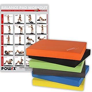 POWRX Balance Pad/Sitzkissen / Kissen Yoga Pilates (Orange)