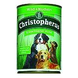 Christopherus Alleinfutter für Hunde, Nassfutter, Erwachsener Hund, Wild/Nudeln, Fleischmahlzeit 400 g