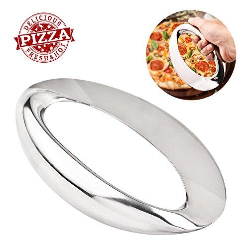 Bibury Pizzaschneider, Pizza Messer Für Pizza Kreissäge Edelstahl Zum Familientreffen, Festival, Firmenfeier usw