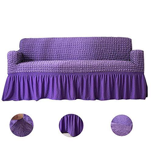 Loveseat Sofabezüge,hohe Dehnbare Universelle Langlebige Möbel-Protektor Mit Saum Couchabdeckung Slipcover Für 1 2 3 Kissen Couch-lila Liebe Sitze