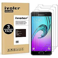 iVoler [Pack de 3] Verre Trempé Compatible avec Samsung Galaxy A3 2016, Film Protection en Verre trempé écran Protecteur vitre
