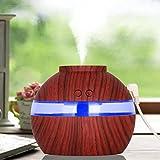 Voberry Ultrasonic Air Humidifier Spray Humidificateur d'air Brume Fraîche Arôme Diffuseur de Parfum Electrique Parfait pour cadeau, SPA, Yoga, Chambre, Maison, Bureau, Bébé, (marron)