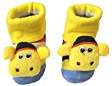 #9: KiddosCare Cute Cartoon Faced Soft Socks For Babies – Packs of 3(Colour and Print may vary)