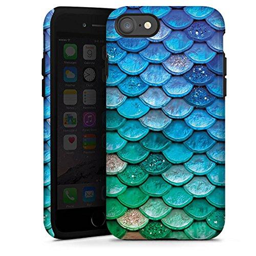 Apple iPhone 5s Hülle Case Handyhülle Schuppen Meerjungfrau Mermaid Tough Case glänzend