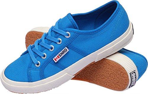 SNRD 107 unisexe Toile Baskets à lacets classique Bleu - bleu