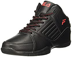Fila Mens Concept 2 Black /Red Basketball Shoes - 7 UK/India (41 EU)