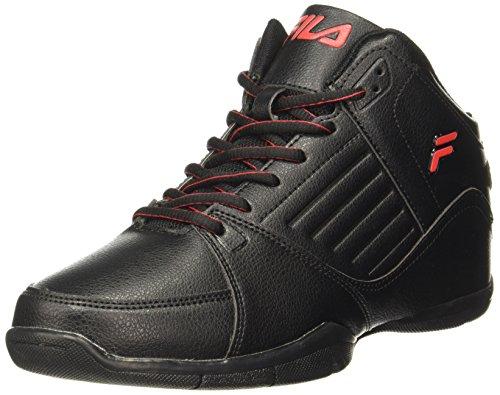 Fila Mens Concept 2 Black /Red Basketball Shoes - 6 UK/India (40 EU)