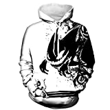 Herren Digitaldruck Kapuzenpullover Tops Fashion Hoodie Pullover Hooded Sweatshirt (S/M, Monster)