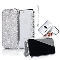 iPhone 6S Plus Case, iPhone 6 Plus Wallet Case,Vandot 3D Flakes Bling Diamond PU Leather Flip Stand Case with Crystal Clear Soft TPU Back Cover Electroplating Bumper Shockproof Anti-Scratch Non-Slip Full-body Protective Case For iPhone 6S Plus / iPhone 6