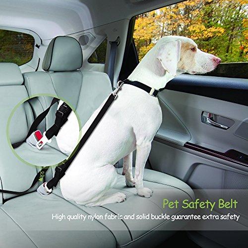 Victsing Hundesicherheitsgurt , Sicherheit Pet Sicherheitsgurt Hundegeschirr mit 2 Schnallen und Leinen für Hunde und Hundesitter (2 Packs) -