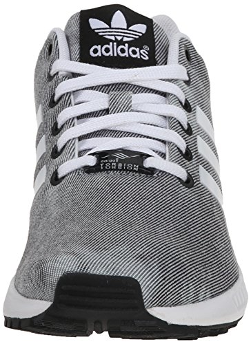 Adidas Womens ZX Flux Leather Trainers Core Black/White/Core Black