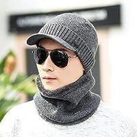 HAOLIEQUAN Wintermütze Skullies Caps Für Männer Frauen Strickmützen Schal Winter Caps Maske Balaclava Kapuze Caps Hüte