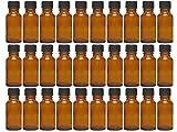 Vitrea 12/20/24 Pezzi 20 ML Goccia Bottiglia in Vetro con Set Goccia Colore Marrone capacità 20 ML Mini Bottiglia Farmacia Dosaggio di liquidi E-Liquids, 24 Pezzi