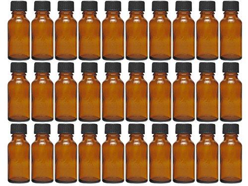 hocz 10 x 30 ml Tropfflasche Mini Glasflaschen mit Tropfeinsatz | Farbe Braunglas ✔ | Füllmenge: 30 ml ✔ | Apothekerflasche | Dosierung von Flüssigkeiten E-Liquids -