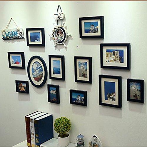 X&L Mittelmeer Europäische Classic Foto Wand kreativ Home Dekoration Handarbeit Holz Foto , deep blue - 3