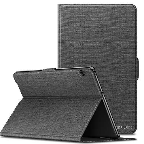 Infiland Huawei MediaPad T5 10 Hülle,Slim Ultraleicht Halten Sie vorne Schutzhülle Cover für Huawei MediaPad T5 10 10.1 Zoll 2018 Tablet PC,Grau