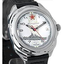 Vostok Komandirskie Azul Marino 2415211428Ruso Militar reloj mecánico
