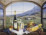 Fresque murale en carrelage - Un peu d'Alsace - Barbara Felisky - Cuisine crédence/Salle de bains douche
