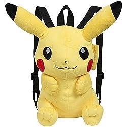 Pokèmon - Mochila, Peluche Pikachu, 30 cm, Color Amarillo (Famosa 760015201)