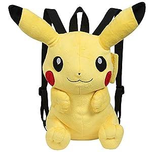 Famosa Softies – Pokèmon Mochila, peluche Pikachu, 30 cm, color amarillo (Famosa 760015201)