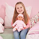 Bayer Design 93824AA Function Doll, First Words Baby, Interactive, 24 Sounds, 38cm, rosa, 38 cm