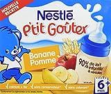 Nestlé Bébé P'tit Gouter Banane Pomme Lait et Fruits dès...