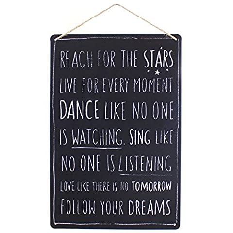 Rustic Dance Like No One Is Watching. Mur métal Citation Hanging Chic Plaque signe