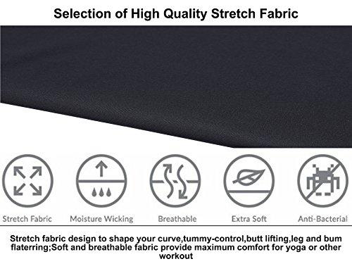 Ekouaer Leggings Taille haute Pour femme Contrôle du ventre Pour entraînement, yoga, course à pied gris