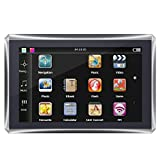 Qiilu GPS Navigation 5po à écran Tactile Portable Car Navigator Navigation GPS 128M 4GB FM Carte gratuite(Europe)
