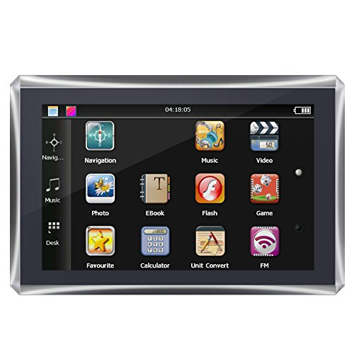 Qiilu GPS Navigation 5po à écran Tactile Portable Car Navigator Navigation GPS 128M 4GB FM Carte gratuite(Europe)