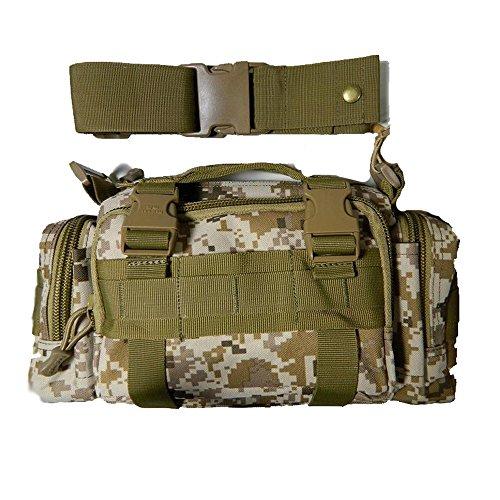 CHT Herren-Tarnung Im Freien Bewegliche Schulter Umhängetasche Diebstahl Multifunktionstaschen Lässig Taktik 35 * 9 * 15cm Farbe Optional desertcamouflage