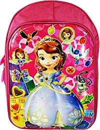 cc52b9ed69fe 3D Sofia Barbie Disney Cinderella Frozen Anna and Elsa Waterproof Pink  School Bag Backpack for Girls