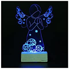 Idea Regalo - Giftgarden® Angelo con Led da Tavolo Preghiera Angeli Decorazione
